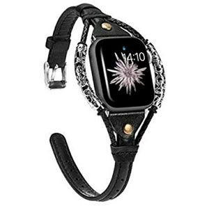 🍂Black Leather Apple Watch Band